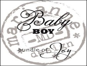 Clear stamp baby boy CS 0889