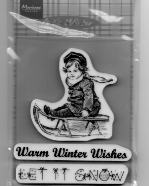 Cling Stamp Warm winter (slee)